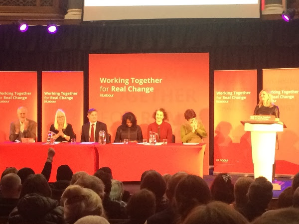 The panel at Jeremy Corbyn's 'Care for the NHS' rally
