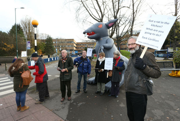 Rally organised by Nottingham KONP to urge NUH to cancel their cleaning contract with Carillion