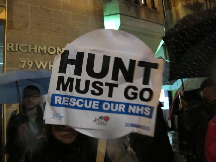 Hunt Must Go rally