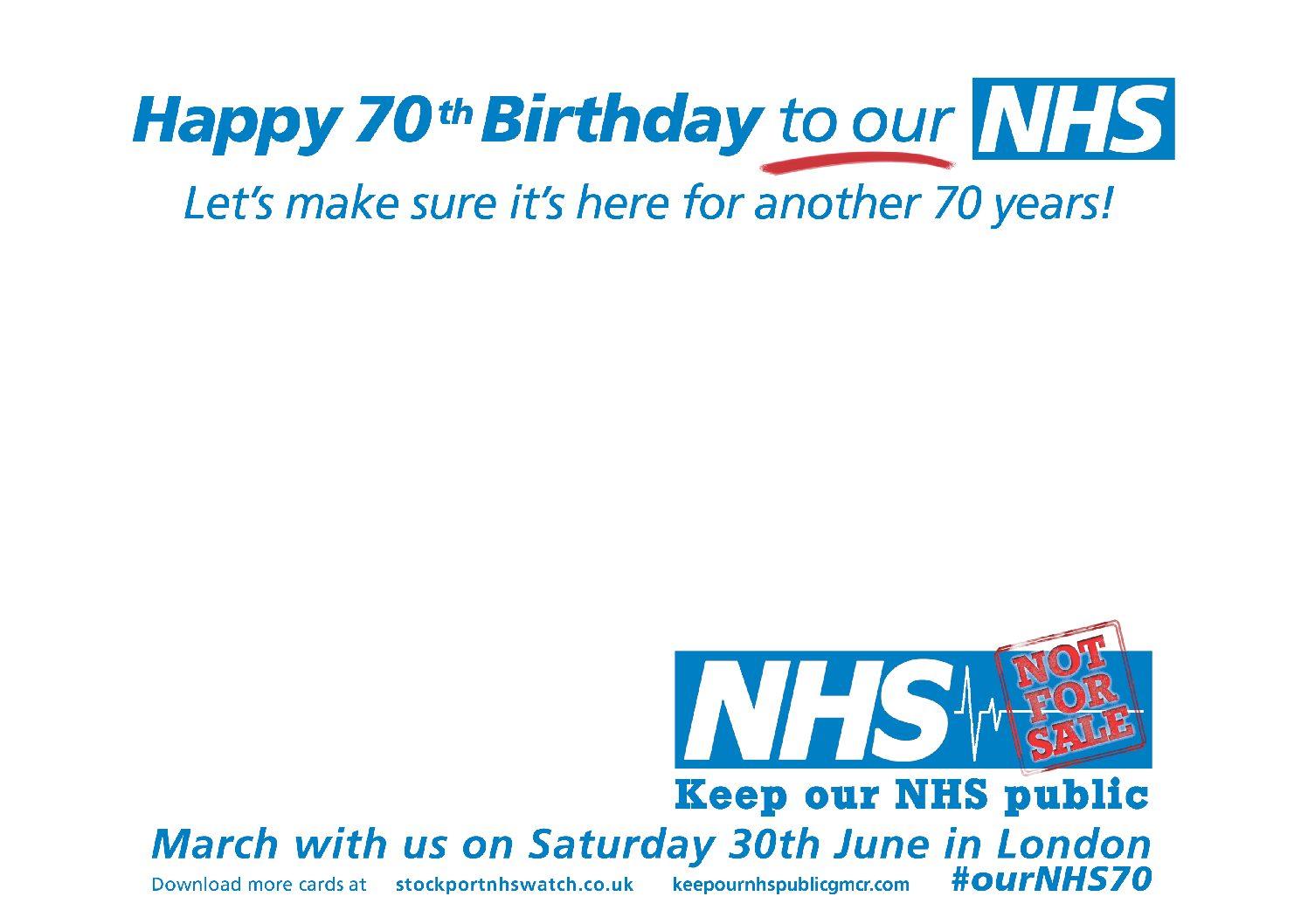 NHS Birthday Card Version 1