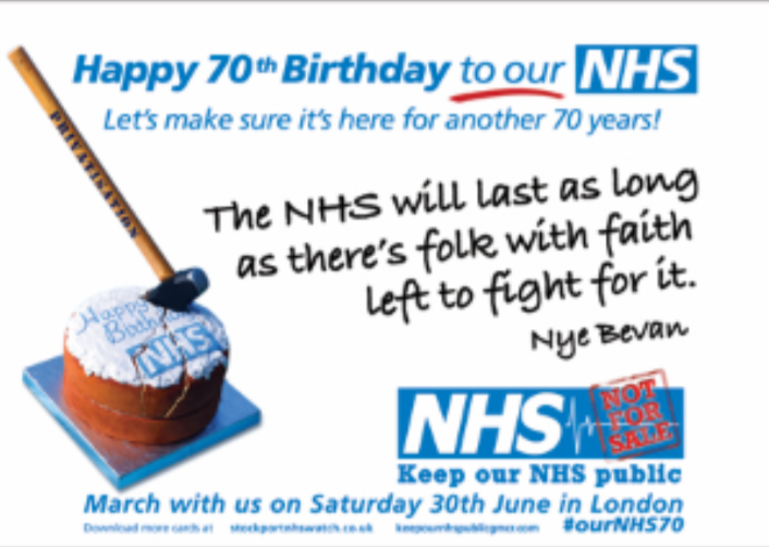 NHS 70th Birthday Card Campaign Keep Our Public
