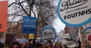 Bristol NHS protest
