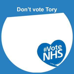 Keep Our NHS Public #votenhs Facebook frame