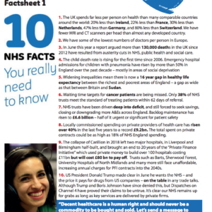 NHS Fact Sheet one