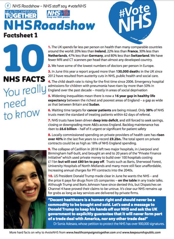 NHS Fact Sheet one