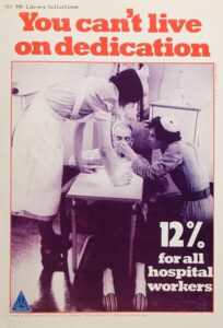 A poster from the 1982 nurse pay campaign