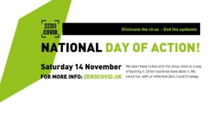 Image advertising the Zero Covid day of action on 14th November