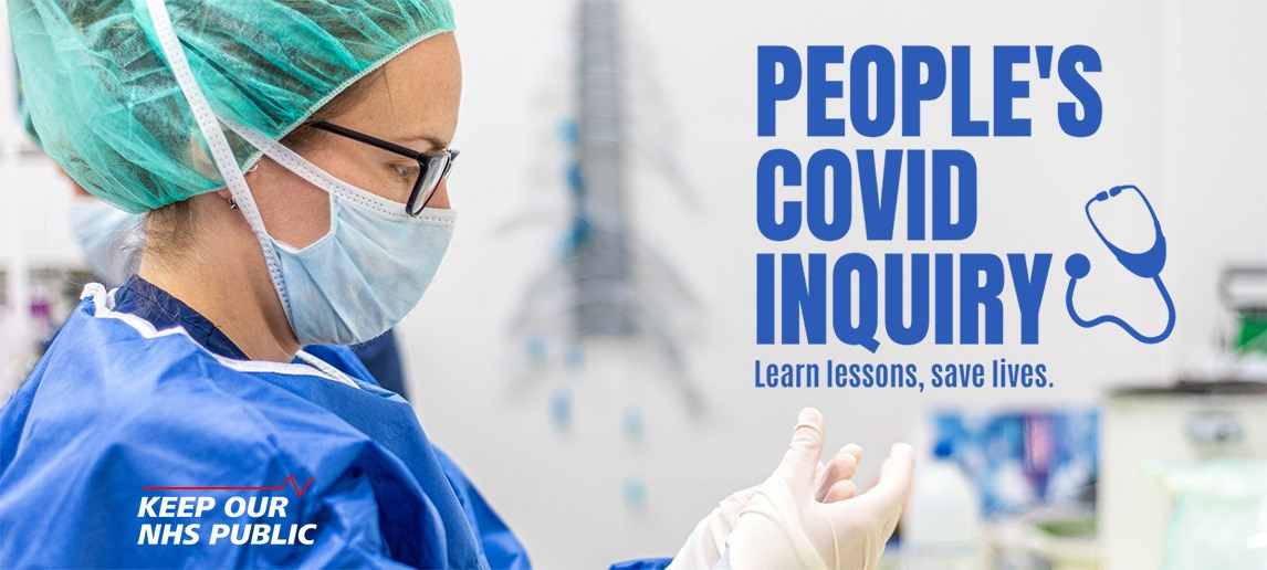 Image advertising the People's Covid Inquiry