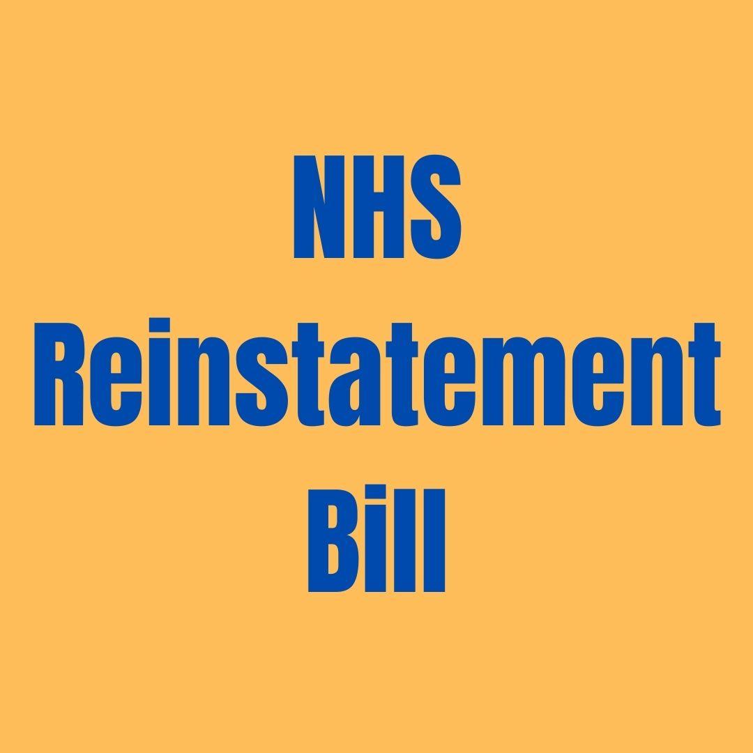 NHS Reinstatement Bill